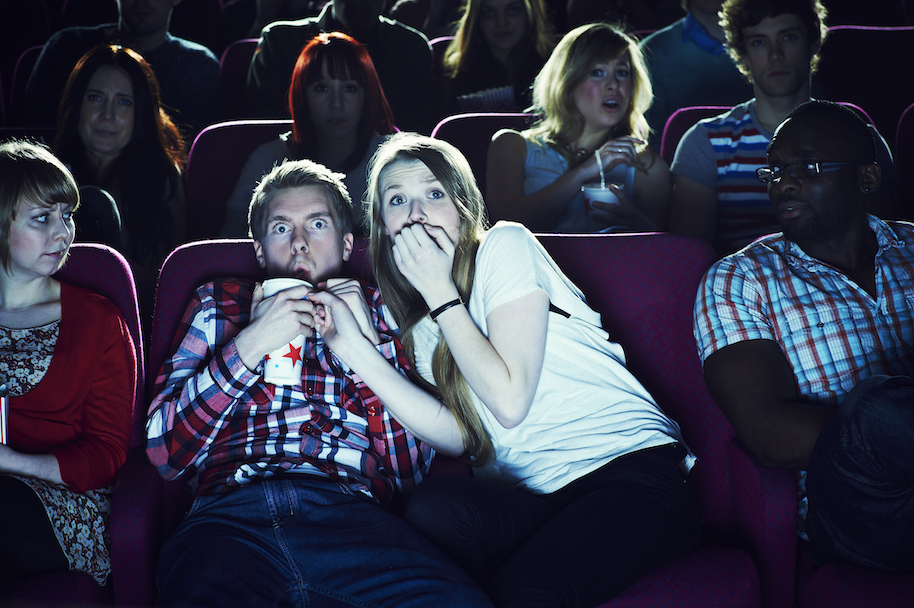 1. If you want a girl to associate excitement with you, take her out for a scary movie and some coffee.