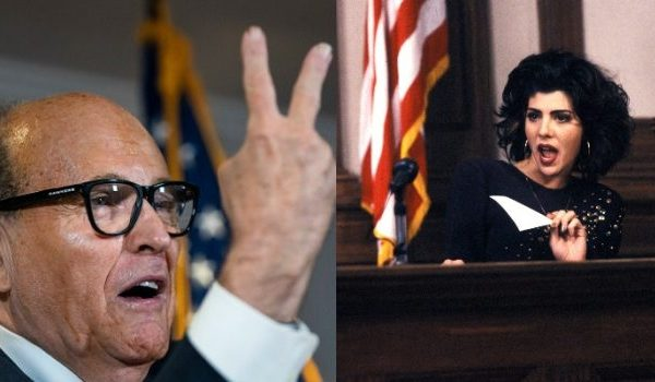 9. 'My Cousin Vinny' Star and Director Object to Rudy Giuliani's Re-enactment of Scene at Press Conference Concerning Election Fraud