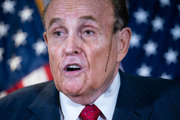 2. Spoiled Brains of Rudy Giuliani Appear to Melt the More Lies He Tells, Leaving His Ears During Tall-Tale Press Conference