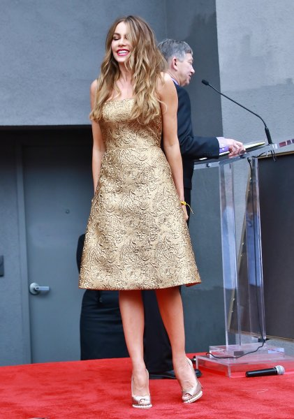 Sofia Vergara honored with a star on the Hollywood Walk of Fame Featuring: Sofia Vergara Where: Los Angeles, California, United States When: 07 May 2015 Credit: WENN.com