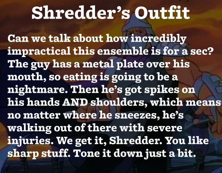 Shredder's Outfit