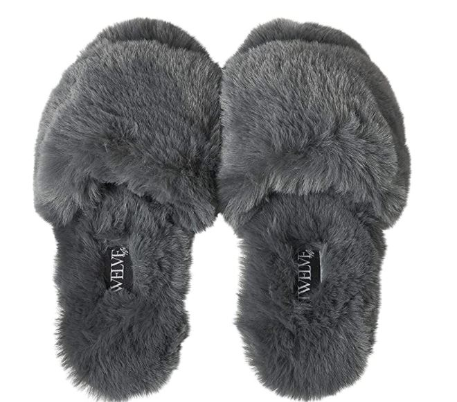 Twelve AM Co., So Good Fluffy Slippers
