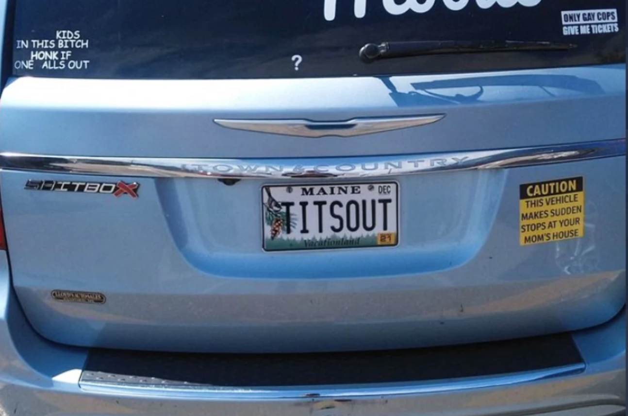 Meanwhile in Maine: The 'MILF Mobile' Has Vulgar License Plates Banned in Latest Free Speech Debate, But They're Still Glorious