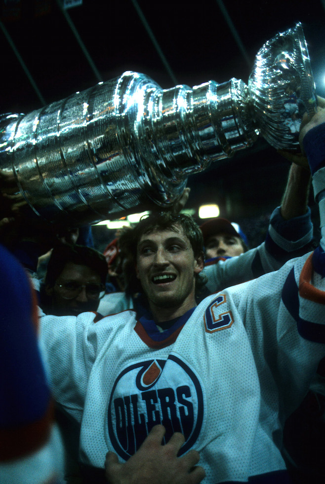 Gretzky wins the Stanley Cup