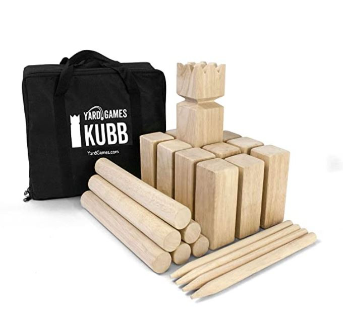 Yard Games Kubb Premium Size Outdoor Tossing Game